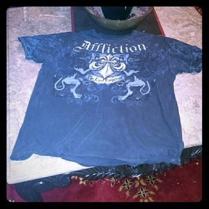 "Mens XL Affliction ""Fedor Emelianenko"" Graphic Tee"